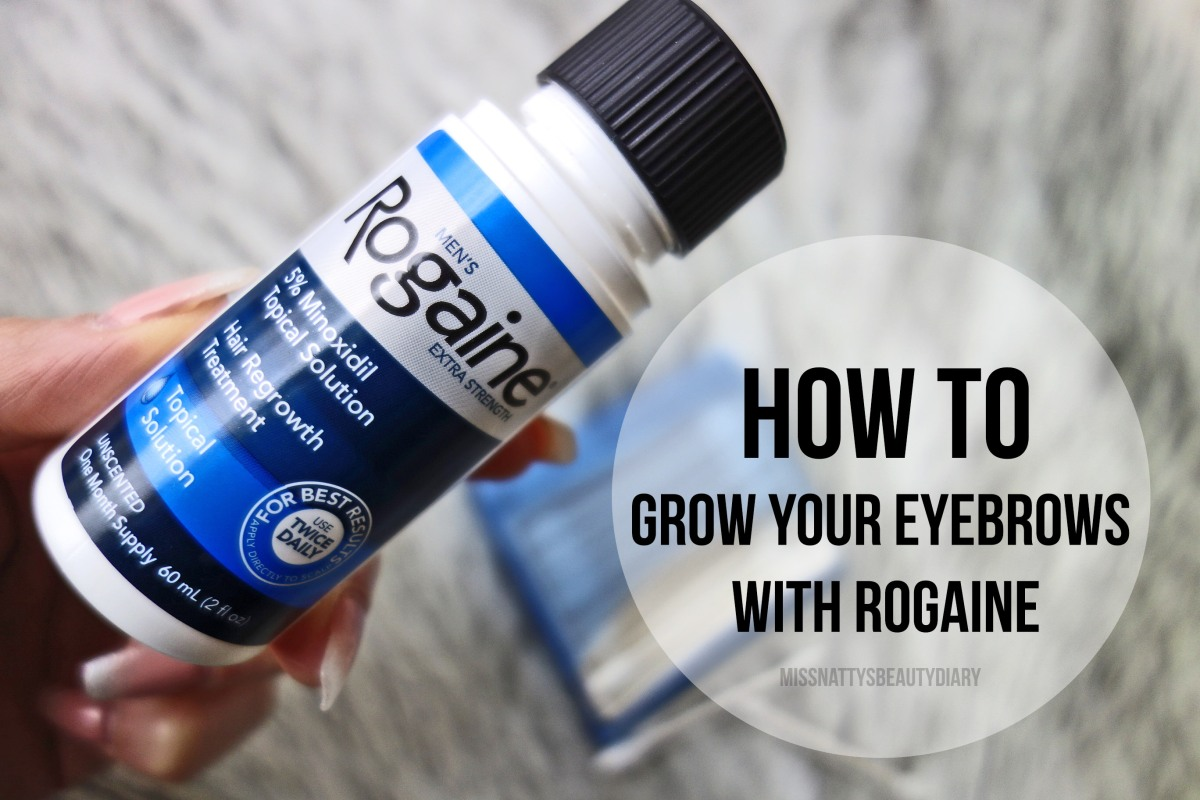 How to grow your eyebrows back with Rogaine + 4 week Results and Photos!